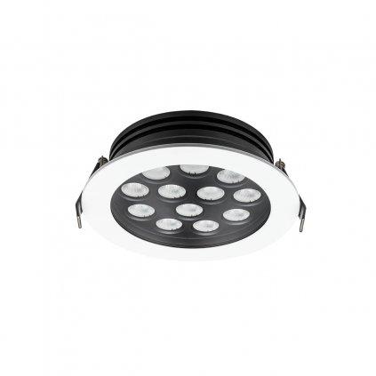 Arelux Xarea, bílá zápustná bodovka do podhledu, 12x1W LED 3000K, prům.16cm, IP65
