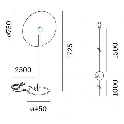 49494 3 wever ducre mirro 3 0 zlata stojaci lampa 1x15w e27 vyska 172 5cm