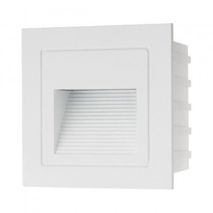 Arelux Xghost, bílé venkovní zápustné svítidlo do stěny, 2W LED 4000K, 8,5x8,5cm, IP65