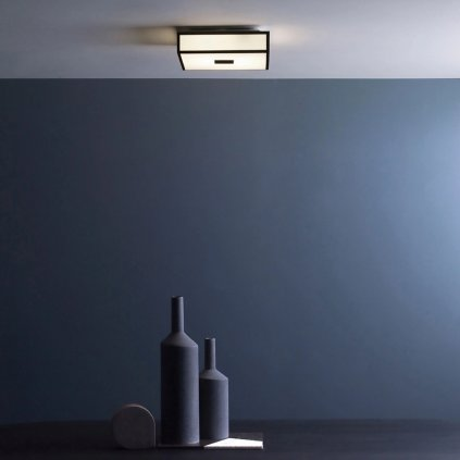 Astro Lighting Mashiko 300, stropní svítidlo do koupelny, 2x60W E27, 30x30cm, chrom, IP44