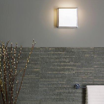 Astro Lighting Mashiko 200, stropní svítidlo do koupelny, 1x60W E27, 20x20cm, chrom, IP44