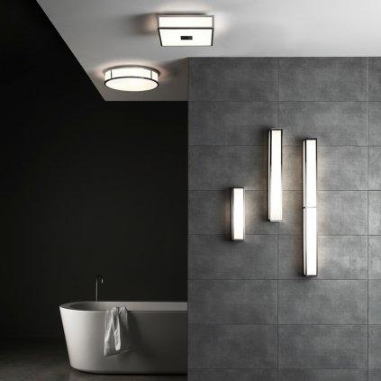 Astro Lighting Mashiko 300 Round, stropní svítidlo do koupelny, 1x60W E27, chrom, prům. 30cm, IP44