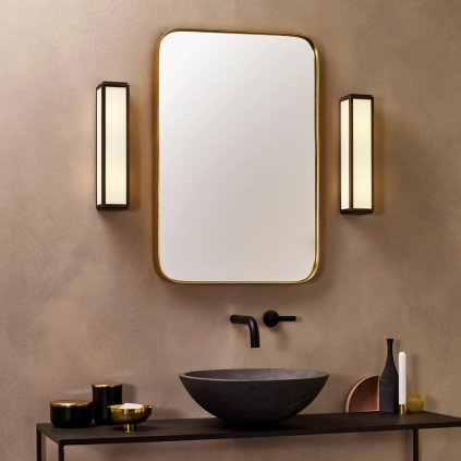 Astro Lighting Mashiko 360, nástěnné svítidlo do koupelny, 2x40W E14, bronz, 36cm, IP44