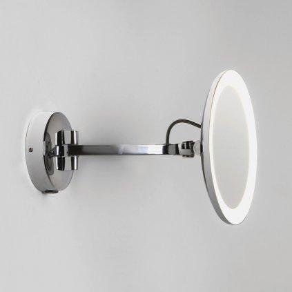 Astro Lighting Mascali LED 7627, nástěnné zrcátko s osvětlením, 5 násobné zvětšení, 7,4W LED chrom, prům. 21,5cm, IP44