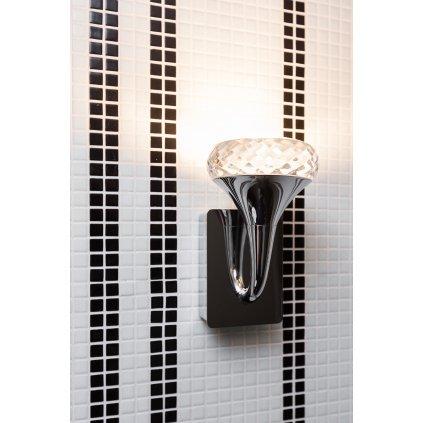 Axolight Fairy, designové nástěnné svítidlo, 1x6,6W LED, ambrové sklo, výška 14,7cm