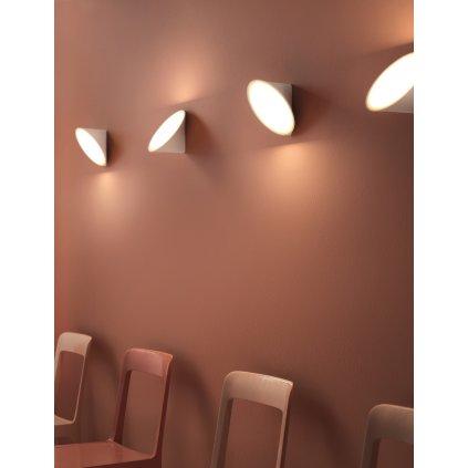 Axolight Orchid, bílé nástěnné svítidlo, 1x15W LED 3000K stmívatelné, prům. 20cm