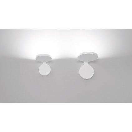 Artemide Rea 12 White, nástěnné svítidlo pro nepřímé osvětelní,  15W LED 3000K, šířka 12cm