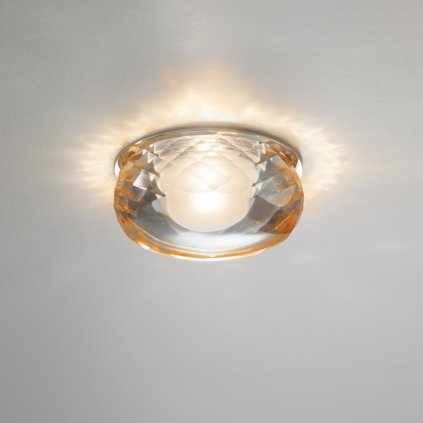 5490 3 axolight fairy designove zapustne svitidlo 1x6 6w led ambrove sklo prum 9cm
