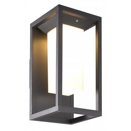 Mantra Meribel, solární grafitová nástěnná lampa, LED 2,2W 188 lm 3000K, se senzorem výška 29cm, IP54