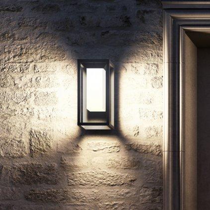 55050 4 mantra meribel solarni grafitova nastenna lampa led 2 2w 188 lm 3000k se senzorem vyska 29cm ip54