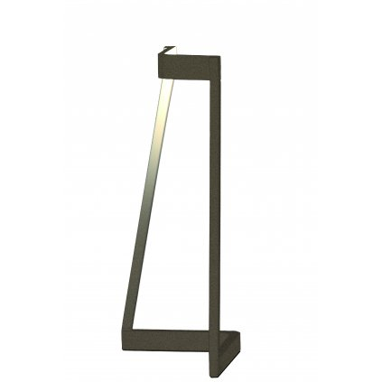 Mantra Minimal, moderní hnědá stolní lampa, LED 5W 375lm 3000K, výška 32cm