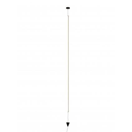 Mantra Vertical, stmívatelná černá závěsná lampa, LED 36W 2160lm 3000K, výška 215-350cm