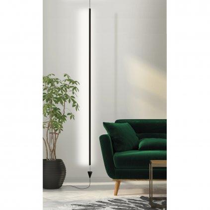 55164 4 mantra vertical stmivatelna cerna zavesna lampa led 36w 2160lm 3000k vyska 215 350cm