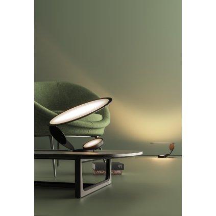 Axolight Cut, designová stolní lampa se stmívačem, 16W LED 3000K, výška 30cm