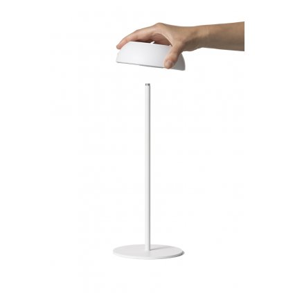 Axolight Float, bílá přenosná lampička na baterii, 3,5W LED 2700K stmívatelná, výška 34,7cm, IP55
