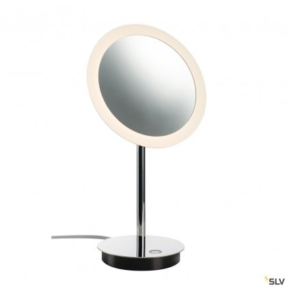 55551 slv maganda stolni lampa zvetsovaci zrcatko s osvetlenim led 4 8w 2700 3000 4000k chrom prumer 21 6cm