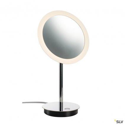 SLV Maganda, stolní lampa, zvětšovací zrcátko s osvětlením LED 4,8W, 2700/3000/4000K chrom, průměr 21,6cm