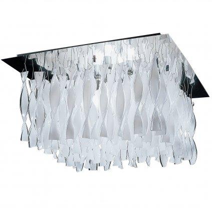 5565 7 axolight aura luxusni stropni svitidlo z bileho muranskeho skla 4x100w e27 75x75cm delka 40cm