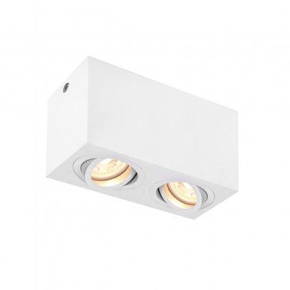 SLV Triledo, bílé stropní svítidlo, 2x GU10 max. 10W, rozměr 8,5 x 16,3cm