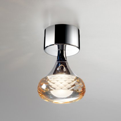 5592 2 axolight fairy designove stropni svitidlo 1x6 6w led ambrove sklo vyska 14cm