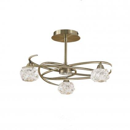 Mantra Maremagnum, stropní svítidlo, 3x33W, mosaz, prům. 45,7 cm