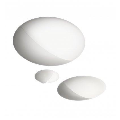 Axolight Nelly, designové svítidlo z bílého textilu, 3x70W, průměr 60cm