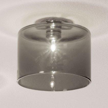 5766 4 axolight spillray gi stropni svitidlo z sedeho kouroveho skla led 1 5w g4 prumer 14cm zapustena montaz
