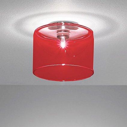 5769 4 axolight spillray gi stropni svitidlo z cerveneho skla led 1 5w g4 prumer 14cm zapustena montaz