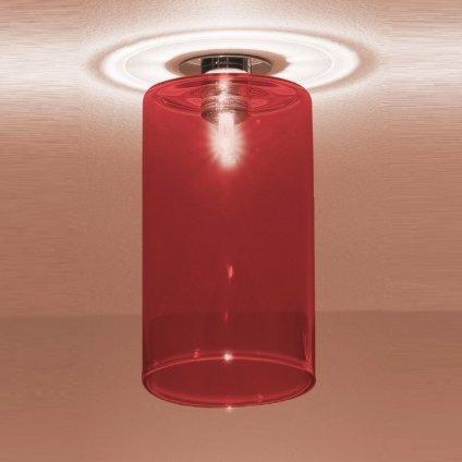 5778 4 axolight spillray mi stropni svitidlo z cerveneho skla led 1 5w g4 prumer 10cm zapustena montaz