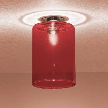 5787 3 axolight spillray pi stropni svitidlo z cerveneho skla led 1 5w g4 prumer 10cm zapustena montaz