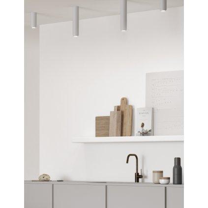 Axolight Urban Mini P, niklové stropní svítidlo, 8W LED 3000K stmívatelné, výška 3,5cm