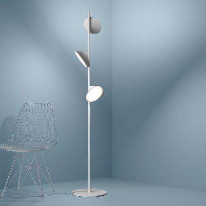 5910 4 axolight orchid bila stojaci lampa se stmivacem 3x15w led 3000k vyska 184cm