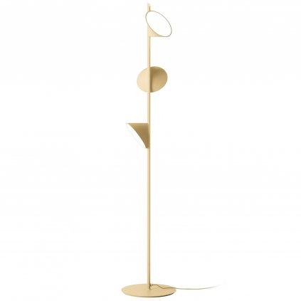 Axolight Orchid, pískově béžová stojací lampa se stmívačem, 3x15W LED 3000K, výška 184cm