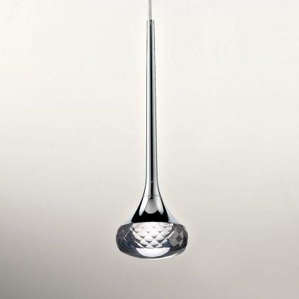 5991 4 axolight fairy designove kruhove zavesne svitidlo 12x6 4w led chrom kristalove sklo prumer 60cm