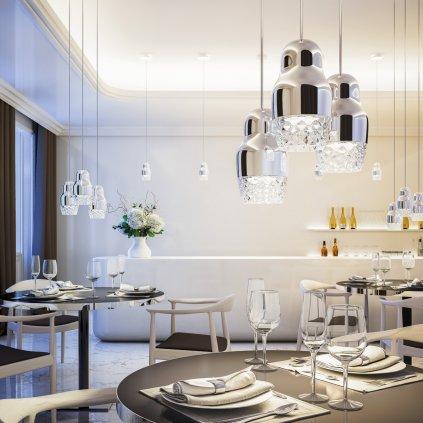 6018 3 axolight fedora sp 1 designove zavesne svitidlo s chromovou upravou 1x7 5w led prum 13cm