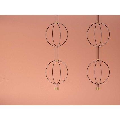 Axolight Liaison M4 2level, zlato-černé závěsné svítidlo, 2x7,5W LED 3000K stmívatelné, délka 2x91cm, prům 84cm