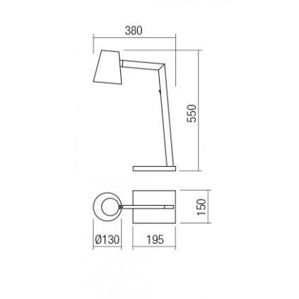 Redo Mingo, černá lampa na stůl v severském stylu, 1x42W E27, výška 55cm