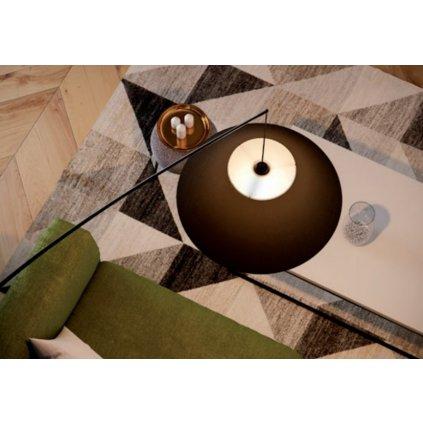Redo Fisher, solitérní bílá stojací lampa, 1x42W E27, výška 235cm