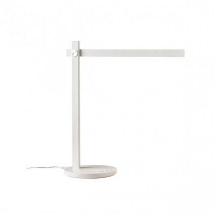 Redo Omeo, bílá lampa na pracovní stůl, 7,5W LED 3000/4500/6500K, tříkrokové stmívání, 43+40cm