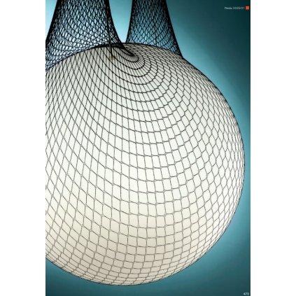 Redo Alluria, závěsné svítidlo v textilní síti, 1x42W E27, prům. 30cm