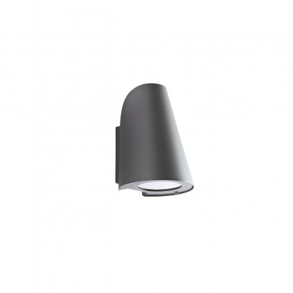 Redo Alvar, antracitové venkovní nástěnné svítidlo, 1xGU10 max 35W, IP44