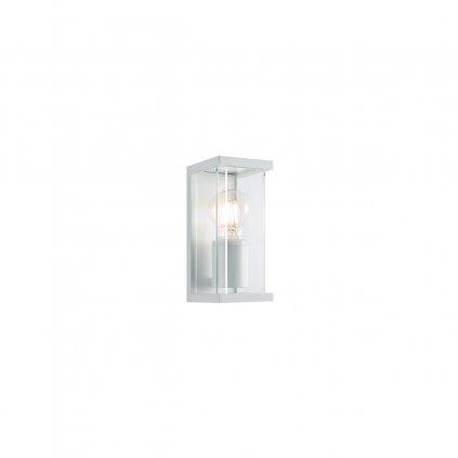 Redo Vitra, bílé nástěnné venkovní svítidlo 1xE27 max. 15W, výška 20cm, IP54