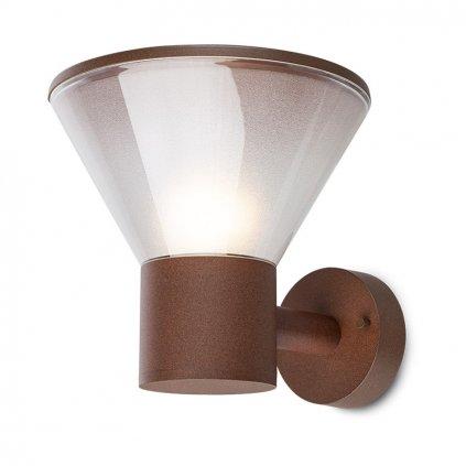 Redo Wit, venkovní nástěnné svítidlo 1xE27 max 18W, hnědá, průměr 22cm, IP44