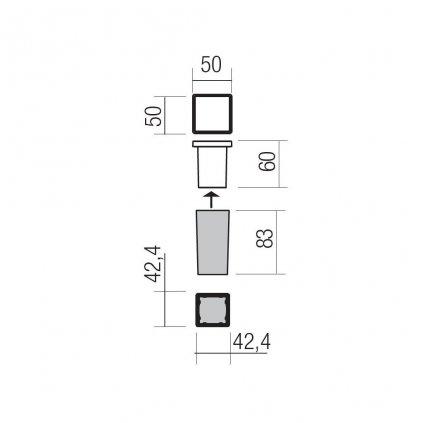 Redo Xpi, venkovní zápustné orientační svítidlo LED 2,3W 3000K, černá, 5x5cm, IP54
