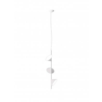 Axolight Orchid, bílé závěsné svítidlo, 3x15W LED 3000K stmívatelné, výška 97cm
