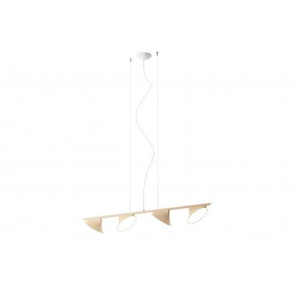 Axolight Orchid, béžově pískové závěsné svítidlo, 4x15W LED 3000K stmívatelné, délka 133,5cm