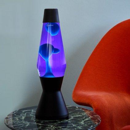 mathmos astro black lava lamp violet turquoise