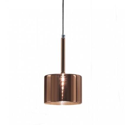Axolight Spillray GI, závěsné svítidlo z bronzem pokoveného skla, LED 1,5W G4 prům. 14cm, zapuštěná montáž