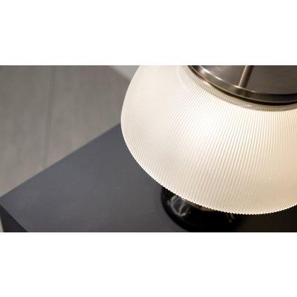 Artemide Alfa, stolní lampička v kombinaci mramoru a křišťálového skla, 2x28W E14, výška 48cm