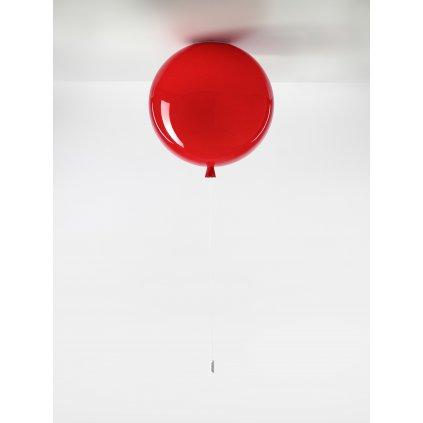 6699 7 brokis memory stropni svitici balonek z cerveneho skla 1x15w e27 prum 40cm